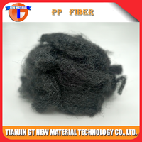 for automotive nonwoven used 9D 65mm High tenacity black lower price staple polypropylene fiber