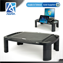 AIDATA Taiwan Product Heightening Rounded Corner Plastic Monitor Stand Fit All Office Table Size