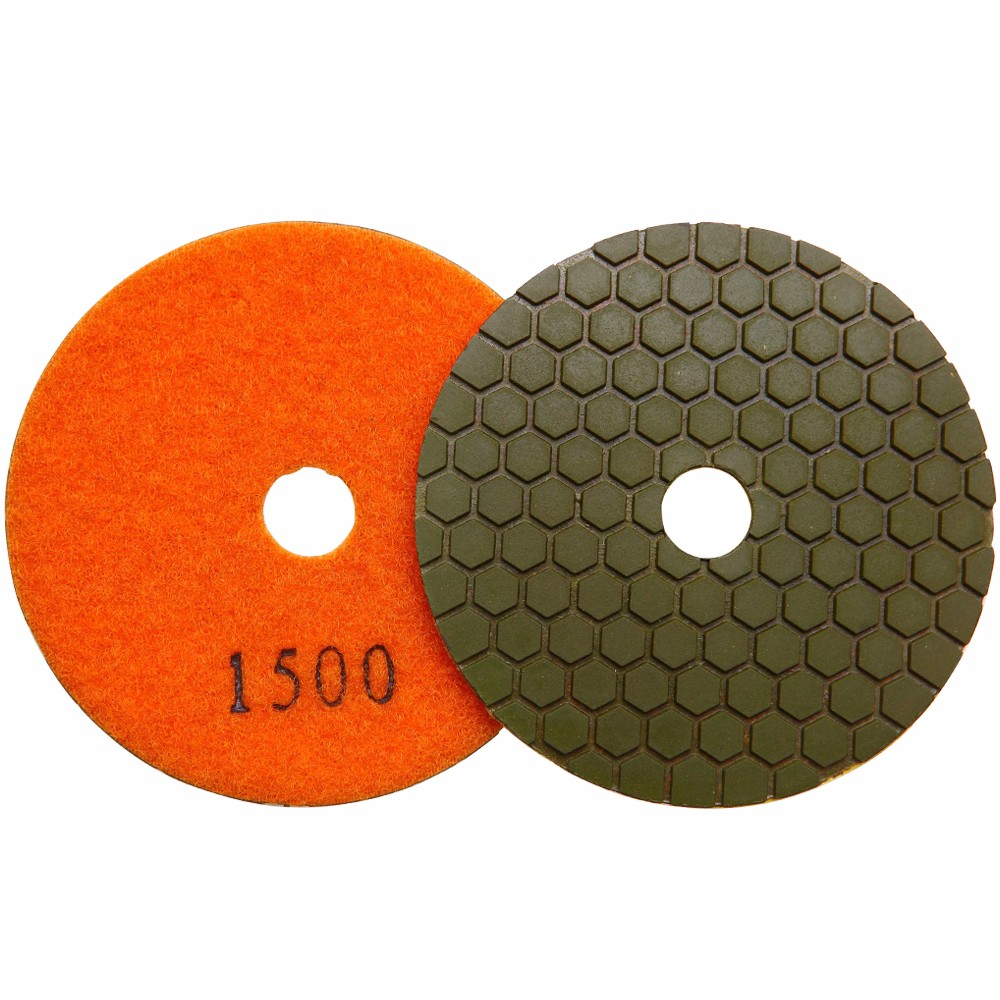 Cheap 100mm wet diamond floor buffing granite marble stone polishing pads