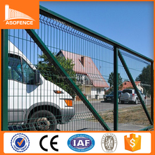 PVC coated bending fence reinforcing welded wire mesh fencing for boundary wall