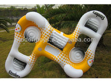 pvc inflatable Two Person Pool Float and Cooler