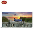 Beautiful Sunset Natural Scenery Boat in River Canvas Painting Hook For Hanging Coat/Clothes