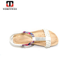 Beach Latest designer ladies slipper beads flat for women slide sandals girls wholesale designs