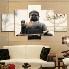 5 Piece canvas print buddha painting poster Picture for Modern Home Decor Living Room can be dropshipping