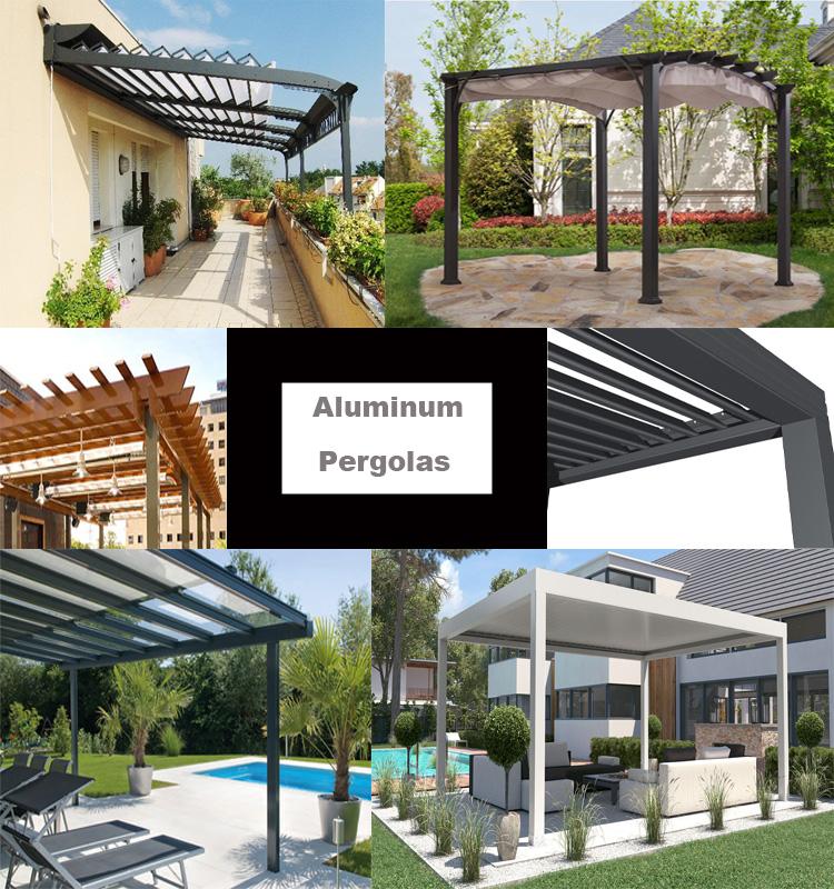 Garden Free Standing Waterproof Automatic Motorized Aluminio Louver Pergola Bioclimatic Aluminium Buy Pergola Aluminio Automatic Pergola Aluminium Louver Pergola Product On Alibaba Com