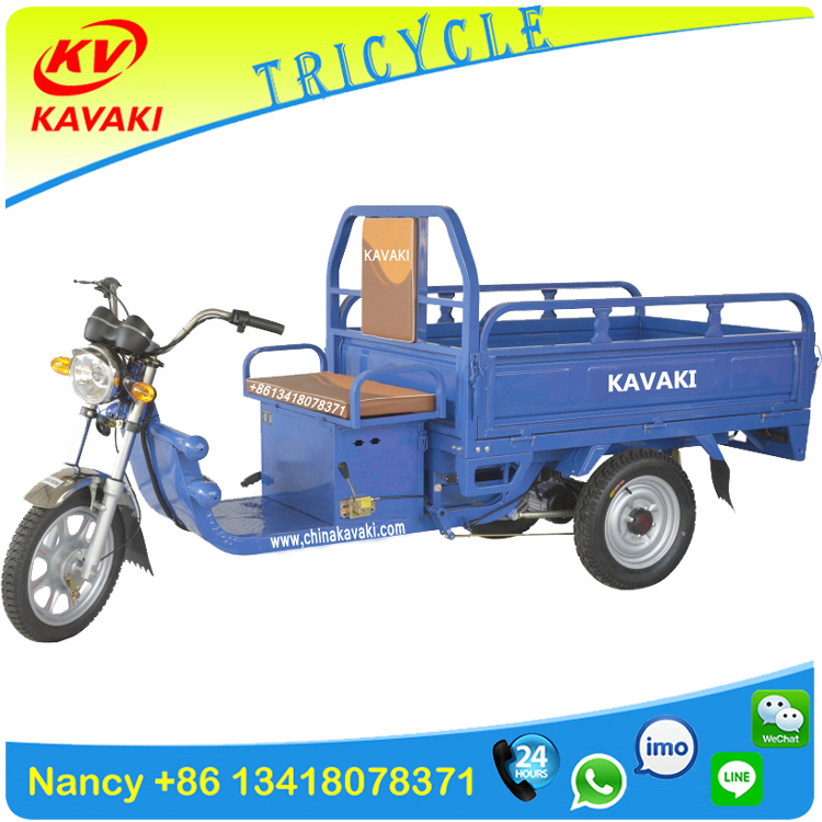 China KAVAKI supplier 900W adult three wheel electric tricycle rickshaw