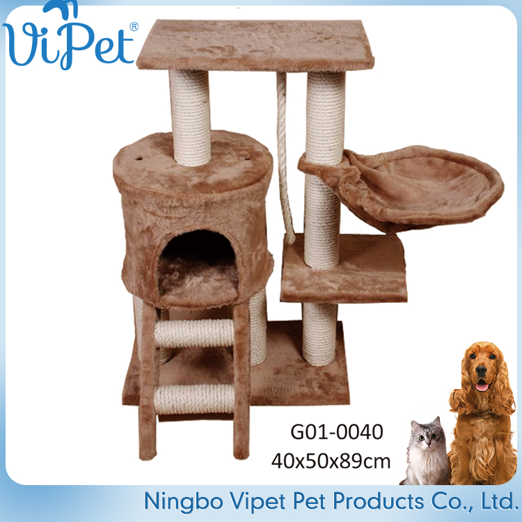 Customized Variety Designs Luxury Pet Supply Cat Bed Tree