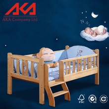 Storage Drawer Design Wooden Baby Cot Bed