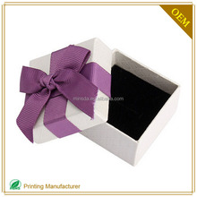 White Premium Hard Paper Gift Box With Lid Tray Custom Logo