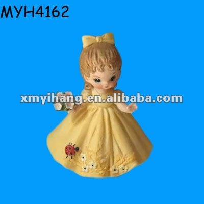 Wedding gift small lovely ceramic blissful fairy figurine