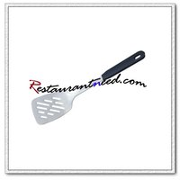 U071 Stainless Steel Slotted Turner With Plastic Handle