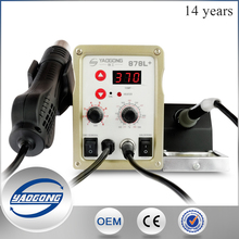2016 Yaogong high frequency soldering machine YG-878L+ high quality hot air soldering iron station 2 in 1