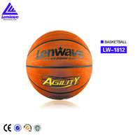 Hot sale Lenwave brand high-grade imitation leather embossing basketball cheap