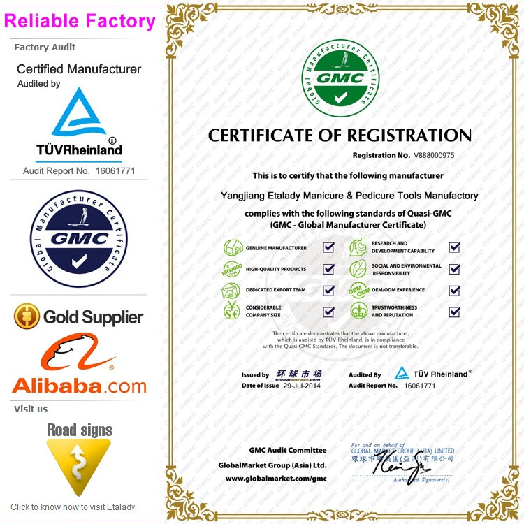 Nail File Manufacturer certification