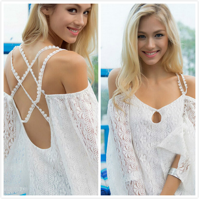 2016 Spring And Summer Hottest Models Chiffon Lace Woman Beach Dress