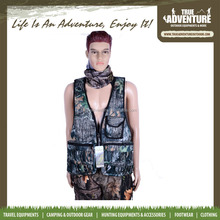 outdoor camping jacket camouflage hunting vest with pants brand name clothing factory
