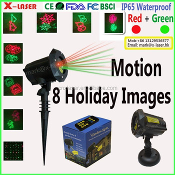 12 images RGB colorful animation laser light good quality Christmas decoration