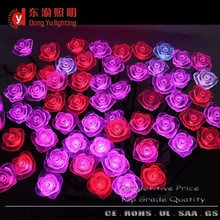 Waterproof color changing Rose Flower Party Garden Lawn LED christmas light