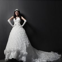 Newest best selling fashion women fluffy wedding dresses