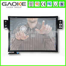 "GAOKE 96"" watch board dual touch anti-jamming mobile stand or wall mounting bracket infrared interactive whiteboard for learning"