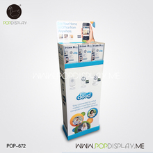 Folding Cardboard Pos Corrugated Cheap High Quality Customized Store Mobile Phone Pop Floor Display Stand