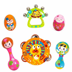 Creative painting mini musical instruments baby rattles for sale