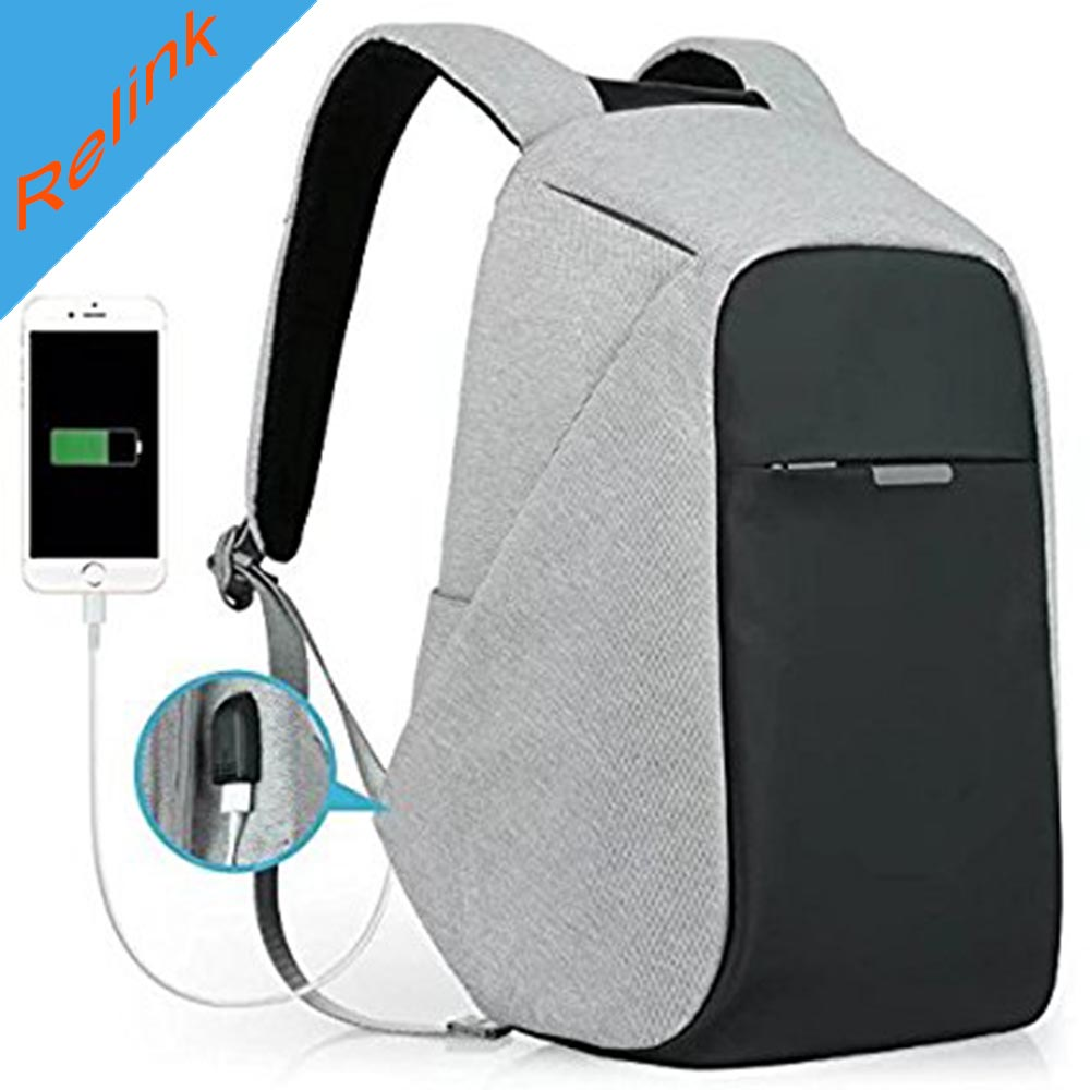Anti-theft Travel Backpack Business Laptop Book School Bag with USB Charging Port for College Student