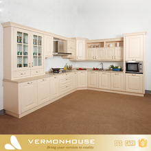 China Supplier Free Design L Shaped Modular Wooden PVC Modern Kitchen