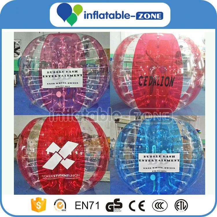 Bumperz bubble soccer bubble ball suit for outdoor game amazing colorful dots string tie anchor bubble soccer
