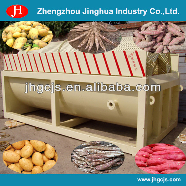 Multi-functional potato rotary washer/ cassava washer/ industrial sweet potato washer