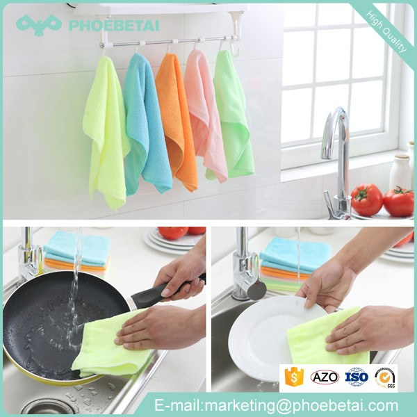 Wholesale household items double-side best microfiber towel for cleaning