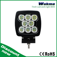 "Cheap best products CE, RoHs, IP67 Certified 80w 12v 24v Led Work Light, 7"" square led driving lights"