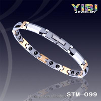 2016 wholesale tungsten masonic bracelets with mens strong magnet ,germanium ,negative ion and far infrared STM-404
