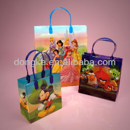 Heavy Plastic Cartoon Character Bags With Handle