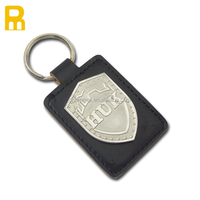 Zinc Alloy Keychain gift With Leather Strap