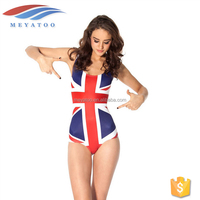High Quality Custom Printed 2016 Swimwear Swimsuit Tankini uk Flag bikini