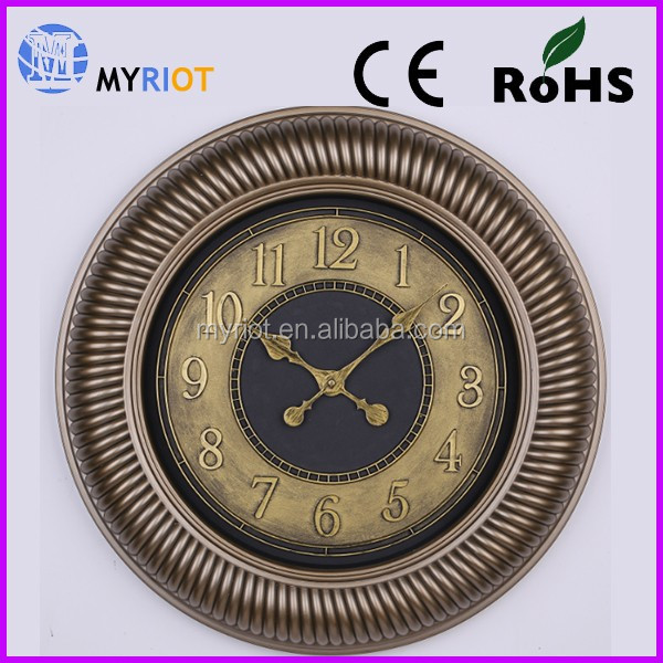 Customized vintage cheap decorated quartz wall clock