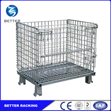 Euro Steel Transport Collapsible Storage Wire Mesh Cage