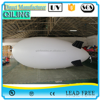 {Qi Ling}2016 hot sale cheap advertising Tubo giant inflatable airship / helium pvc balloons for outdoor advertising