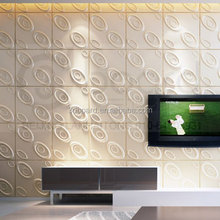 Plant Fiber 3D Texture Decorative Leather Wall Covering Panel For Walls