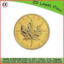 Free artwork design custom quality 1 ounce Canadian Gold Maple Leaf Coins