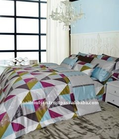 Modern style cotton bedding set, Aldin with Mineral fiber
