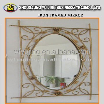 2015 Hot Sale Metal Mirror Glass Round Mirror Frame in Mirror