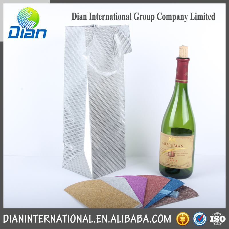 New design luxury paper wine bag with low price
