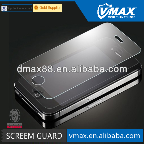 Top-quality Anti Shock screen protective film / 8H tempered glass screen protector for IPhone 4 / 4s(AS)