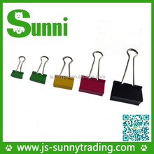 Custom logo 15-51mm metal binder clip for office