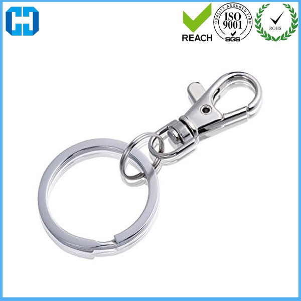 Cheap Bulk Price Keychain Split Ring With Swivel Snap Hook