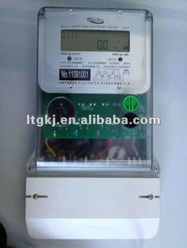 3 phase 4 wire electronic static digital watt hour meter