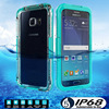 Qu screen display phone waterproof case for Samsung s6 edge + for Samsung s6 edge plus waterproof phone case
