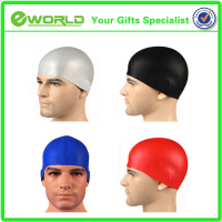 solid color swimming cap water-proof adult silicone swimming cap